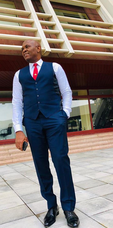 Tony Elumelu on Instagram taking a nice pose