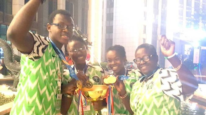 3 Nigerian Students wins at world adolescent robotics.png