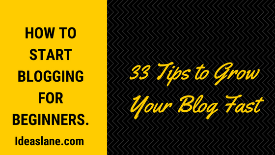 33 simple tips to grow your blog