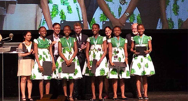 Images of Nigerian Teenage Girls Who won Tech Competition at Sillicon
