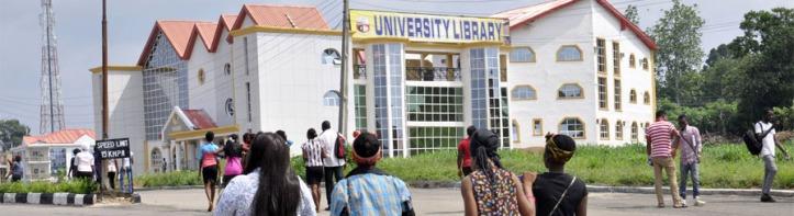 Students on strike in Nigeria 2018