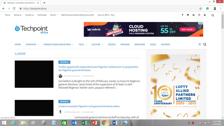 Techpoint, one of the tech blog niches in Nigeria